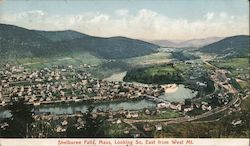 Shelburne Falls, Mass, Kooing S East from West Mt. Postcard