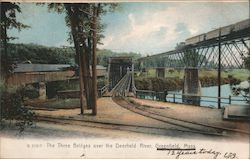The Three Bridges over the Deerfield River Postcard