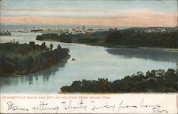 Connecticut River and City of Holyoke from Mount Tom Postcard