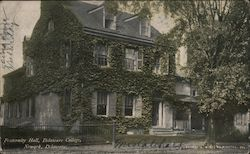 Fraternity Hall, Delaware College Postcard