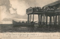 Holly Beach, US Life Saving Crew Postcard