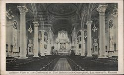 Interior View of the Cathedral of the Immaculate Conception Postcard