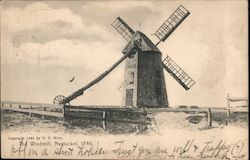 The Windmill, Nantucket 1746 Postcard