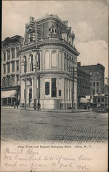 Utica Trust and Deposit Company Bank Postcard