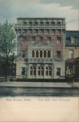 York Hall at Yale University Postcard