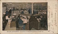 Mailing Department-International Correspondence Schools Postcard