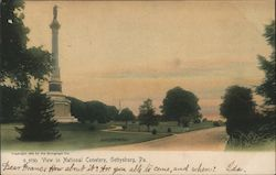 View in National Cemetery Postcard