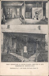 First Crematory In United States - Erected in 1876 Postcard