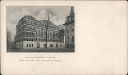 Illinois Woman's College New Building for College of Music Postcard