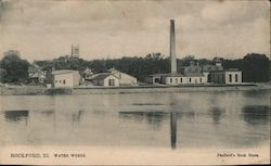 Water Works Rockford, IL Postcard