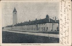 Infantry Barracks Postcard