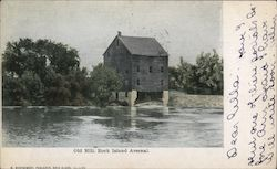 Old Mills, Rock Island Arsenal Postcard