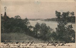 Rock River, North from Country Club Rockford, IL Postcard