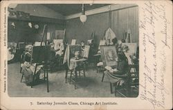Saturday Juvenile Class, Chicago Art Institute Postcard