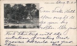 Lakeside Hotel Deproft & Herbertz Postcard