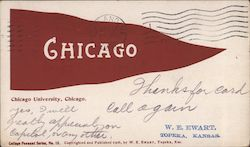 Chicago University, College Pennant Series No. 18