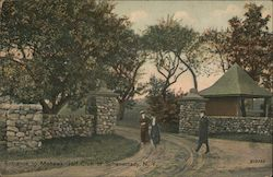 Entrance to Mohawk Golf Club Postcard