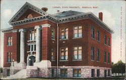 Library, State University Postcard