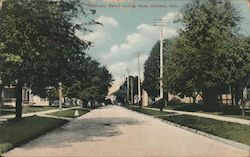 Sandusky Street Looking West Postcard
