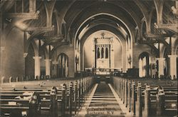 Interior St. Paul's Church Postcard