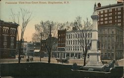 Panorama View from Court House Postcard