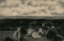 Bird's Eye View Rockford Park, From Water Tower Postcard