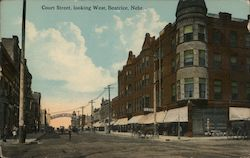 Court Street, Looking West Postcard