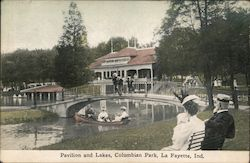 Pavilion and Lakes, Columbian Park Postcard