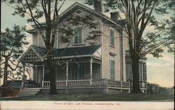 Home of Gen. Low Wallace Postcard