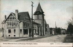 German Reformed Church and Parsonage Postcard