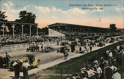 Just Before the Start, Motor Speedway Postcard