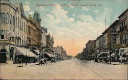 Michigan Street, Looking South Postcard