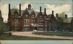 Administration Bldg. Eastern Indiana Hospital for Insane Postcard