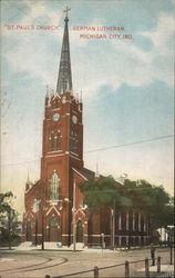 St. Paul's Church German Lutheran Postcard