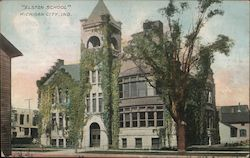 """Elston School"" Postcard"