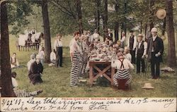 Prison Convicts Postcard
