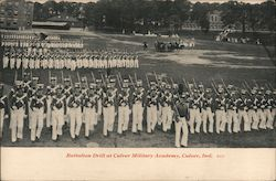 Battalion Drill at Culver Military Academy Postcard