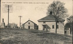 First Church and Academy, Notre Dame, Ind. Postcard