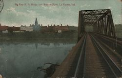 Big Four R.R. Bridge over Wabash River Postcard