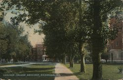 Earlham College, Driveway Postcard