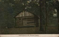 Center School, First School in Ft. Wayne County