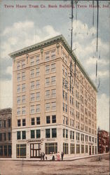 Terre Haute Trust Co. Bank Building Postcard