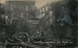 Ruins of Aveline Hotel Postcard