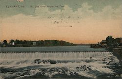 St. Joe River Above the Dam Postcard