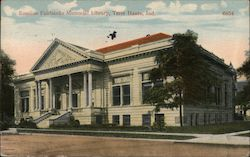 Emeline Fairbanks Memorial Library Postcard