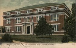 Civil Engineering Bldg., Purdue University Postcard
