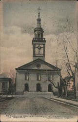 St. Francis Xavier Church, Oldest Church in Indiana Postcard