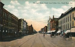 Michigan Street, South from Colfax Ave. Postcard