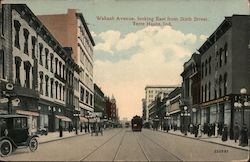 Wabash Avenue, looking East from Sixth Street Postcard
