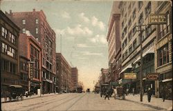 Grand Avenue North from 12th St. Postcard
